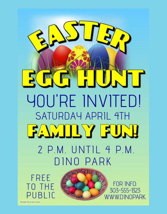 example of easter poster template