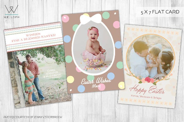 beautiful happy easter card template for photographers