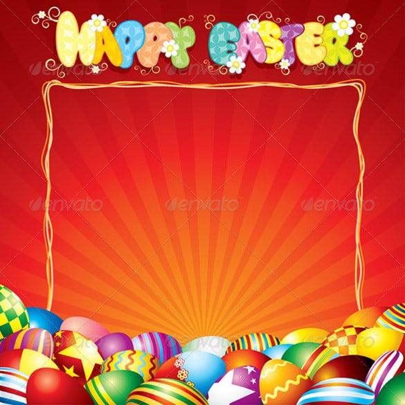 best natural easter card template