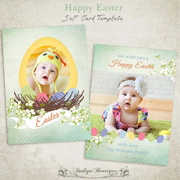 Easter Card Template   Free Printable Pdf Jpg Psd Eps