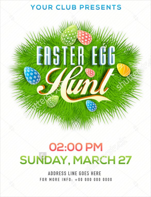 professional easter flyer template download