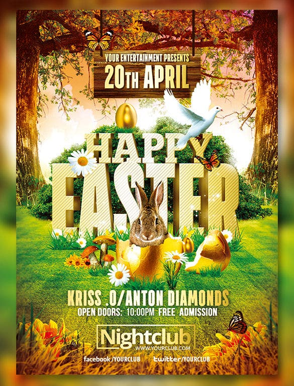 Attractive Easter Flyer Template Free