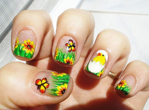 best easter nail art design