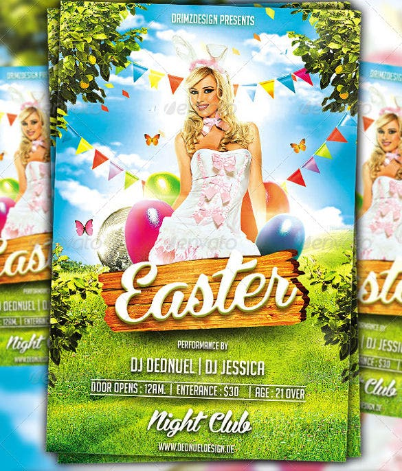 easter flyer for night club