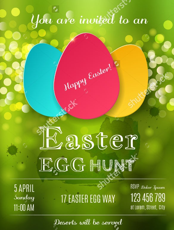 easter flyer template with stars