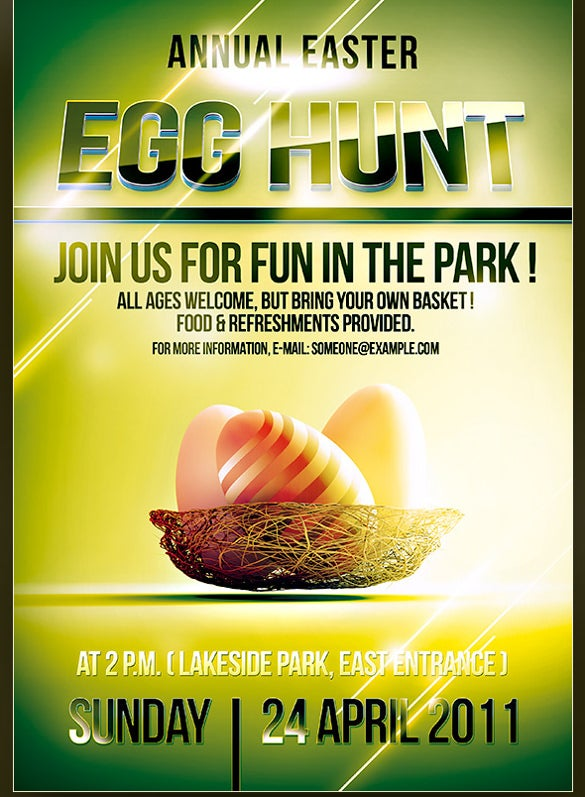 unique easter flyer template