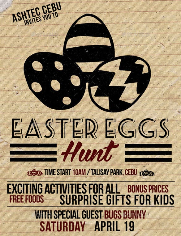 vintage easter flyer template