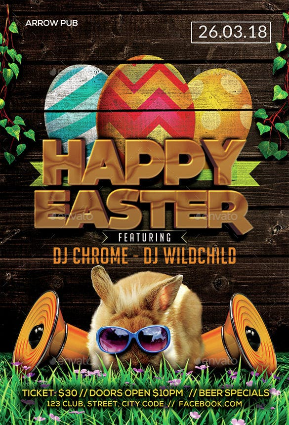 modren easter flyer template