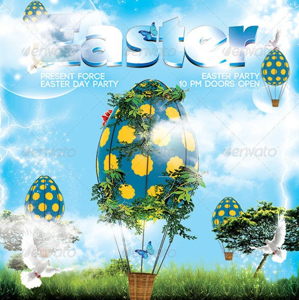 elegant easter flyer template download