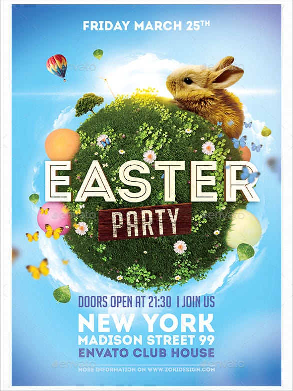 easter party flyer template download