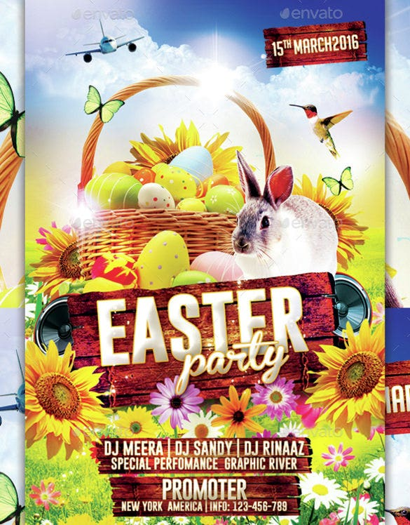 easter flyer template insatant download