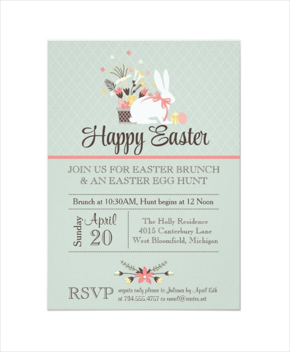 easter invitation template 28 psd eps format download free