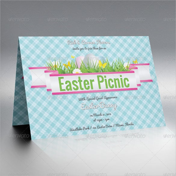 easter picnic invitation template download