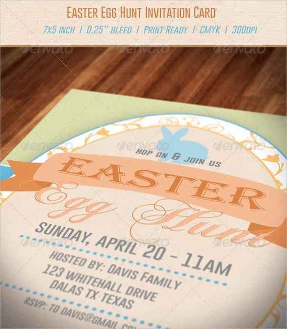 easter egg hunt invitation download