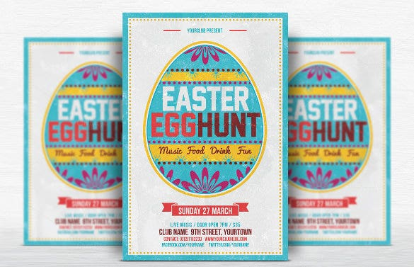 egg hunt easter flyer