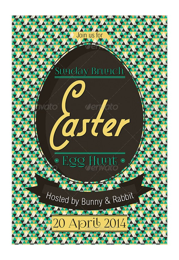 new look of easter egg hunt invitation