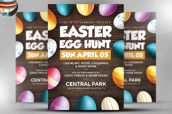 26march easter flyer template