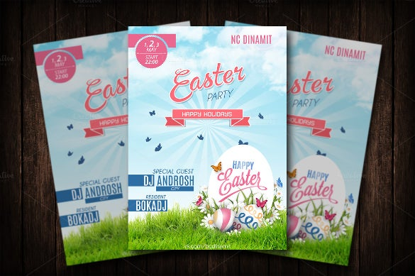 elegant easter party flyer