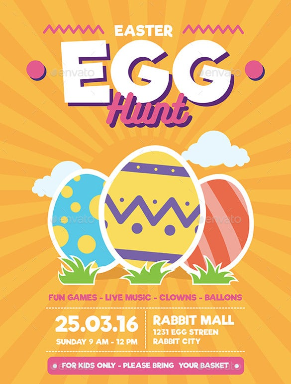 2016 easter egg hunt flyer template
