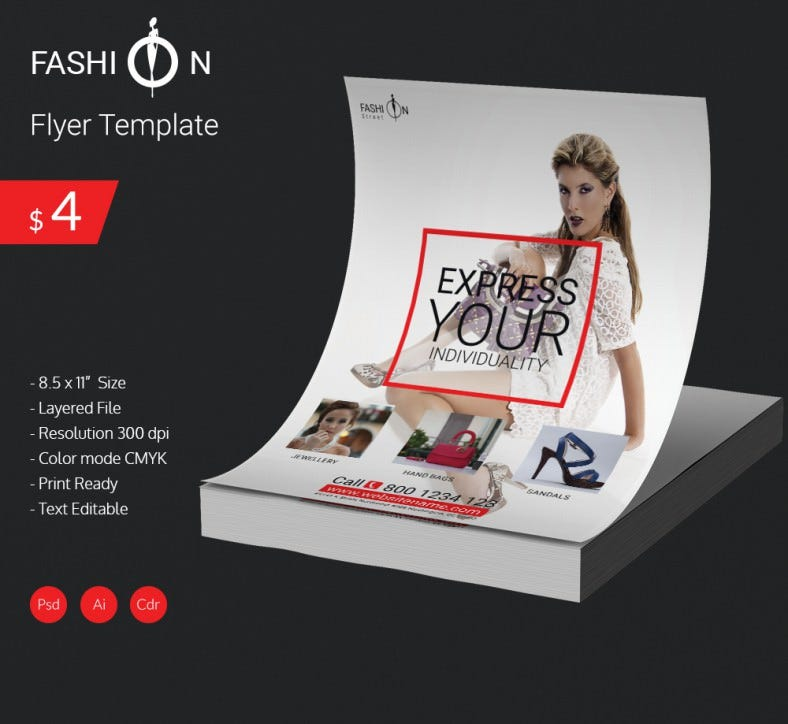14 Fashion Flyer PSD Templates Designs – Fashion Design Brochure Template
