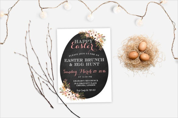 Easter Invitation Template   Psd Eps Format Download  Free