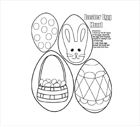 easter egg hunt coloring pages - 16 easter colouring pages free sample example format