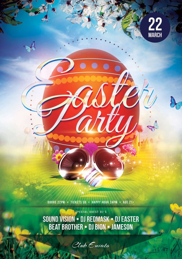 adjustable easter flyer template