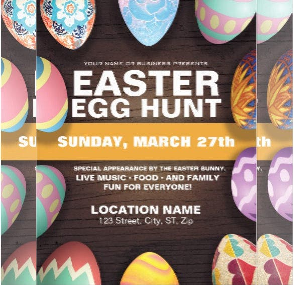 business invitaion of easter flyer template