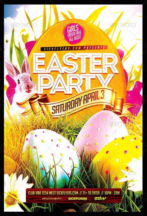 editable easter flyer template