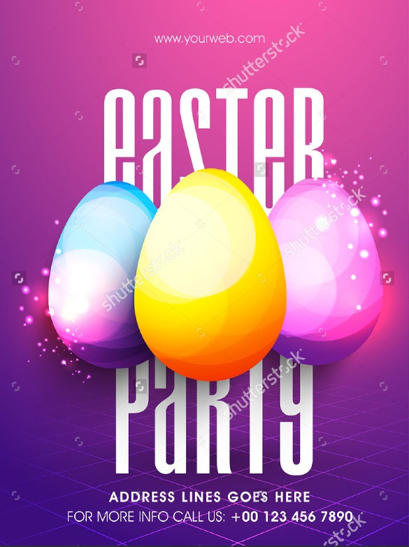 colourfull easter flyer template