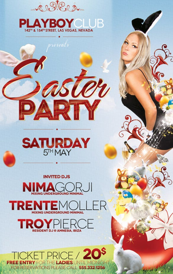 easter party flyer template download1