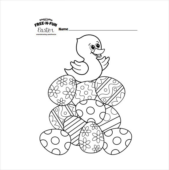 16 easter colouring pages � free sample example format