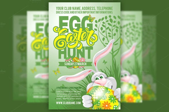 beautifull egg hunt easter flyer1