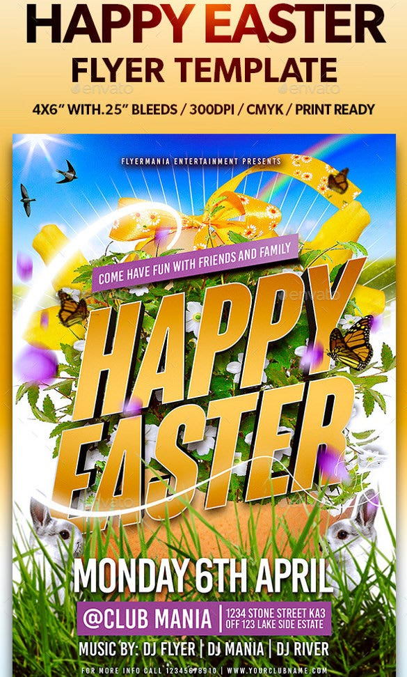 easy editable easter flyer template