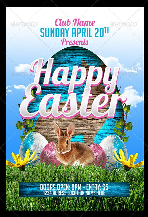 great easter party flyer template