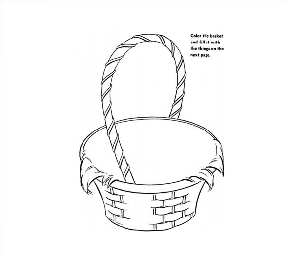 format of a easter colouring page free download1