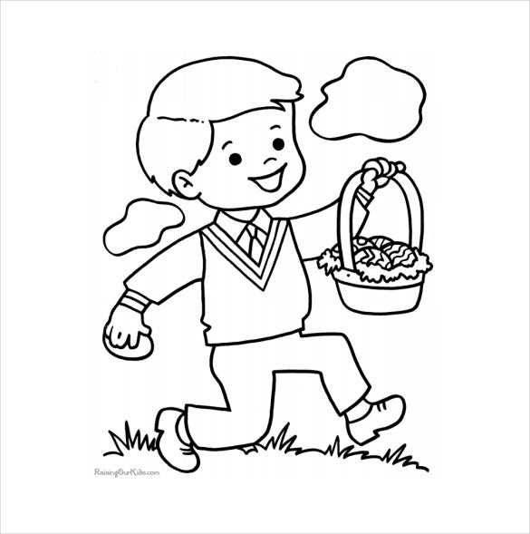 16  easter colouring pages  u2013 free sample  example  format download
