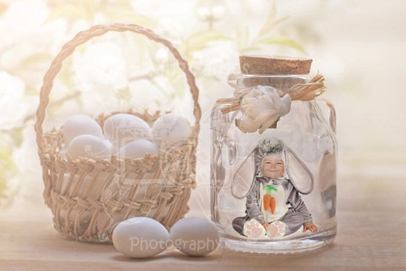 beautiful easter bunny rabbit background template