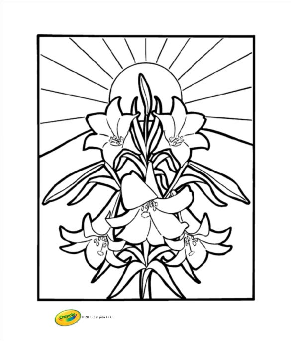 easter lilies coloring page crayola free pdf download