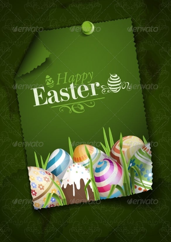 eggs in a grass easter background template