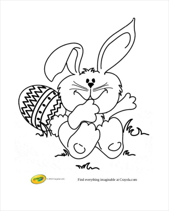 easter bunny coloring page free download crayola