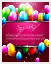 Luxury Birthday Card Templates With Balloons