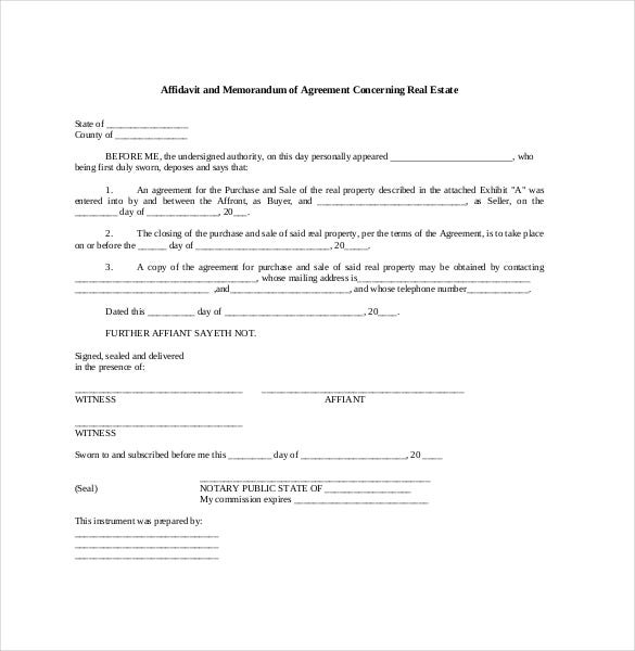 Memorandum Of Agreement Template   Free Word Pdf Document