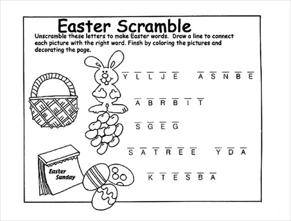 free pdf download of easter scramble coloring page crayola