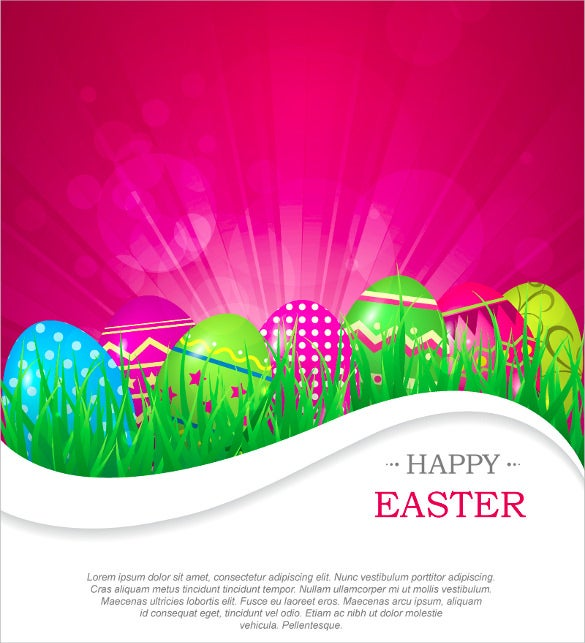 colorful vector easter background template1
