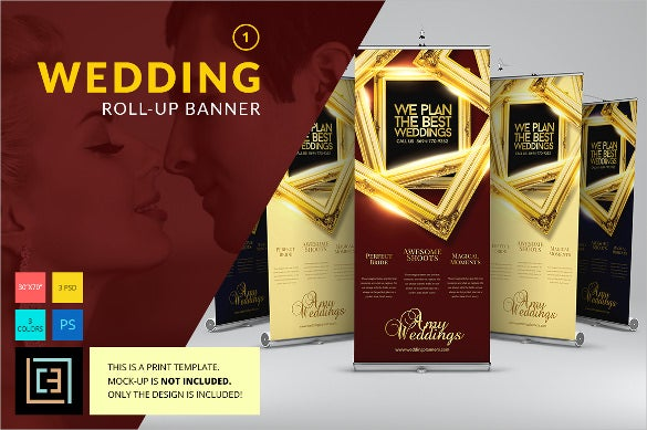 rollup wedding banner template