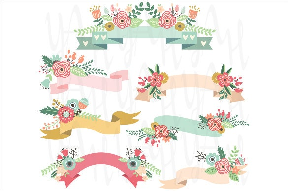 floral wedding banner template