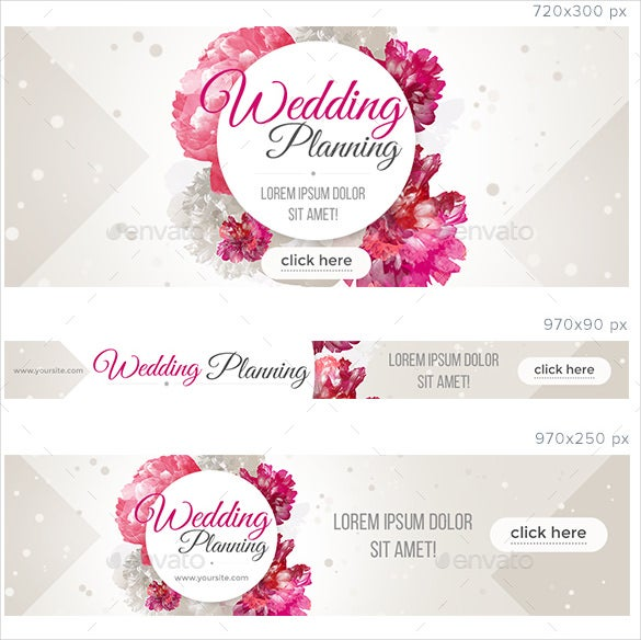 blossom wedding banner template