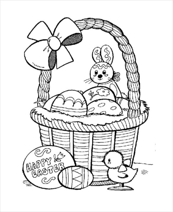 download free pdf basket and easter eggs
