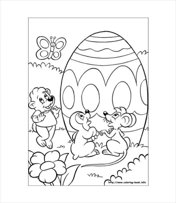 free pdf easter bunny coloring picture download